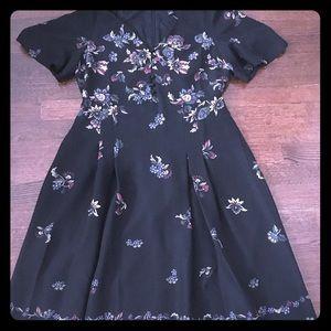 Black floral maxi dress. Never been worn.